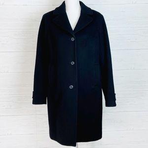 L.L. Bean Classic Black Wool Coat